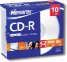 CD-R MEMOREX 10KS SLIM